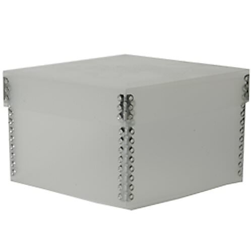 5 3/8 x 5 3/8 x 3 1/2 Clear Frost Plastic Box