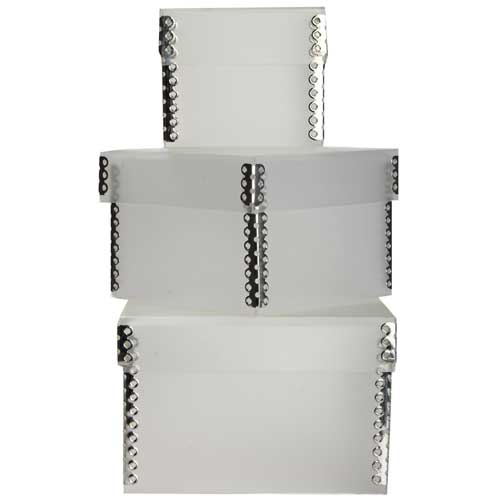 Clear Frost Plastic Nesting Boxes