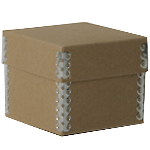 3 1/4 x 3 1/4 x 2 3/4 Recycled Brown Kraft Box