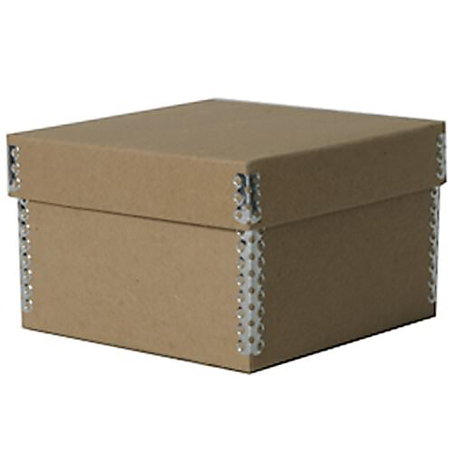 5 3/8 x 5 3/8 x 3 1/2 Recycled Brown Kraft Box