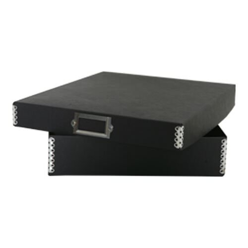 9 1/2 x 12 x 2 1/4 Recycled Black Kraft File Box