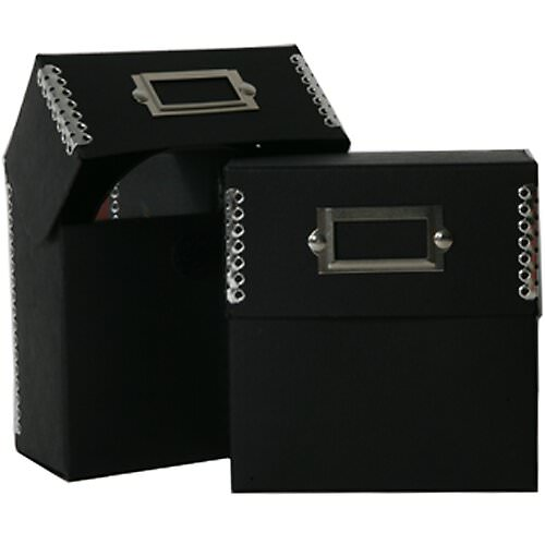 5 x 5 1/2 x 2 1/2 Recycled Black Kraft CD Box