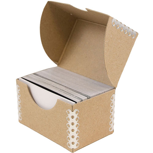 2 1/4 x 3 1/2 x 2 Brown Kraft Business Card Box
