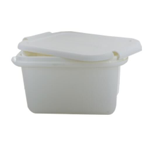 7 1/2 x 5 1/2 x 4 1/2 White Plastic Storage Box