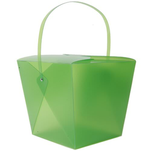 9.5 x 8.5 x 7.25 Green Plastic Chinese Container