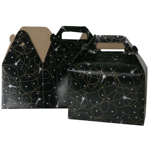 4 x 8 x 5 1/4 Black with Shooting Star Gable Box