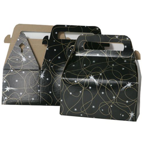 3 1/4 x 6 x 3 Black with Shooting Star Gable Box