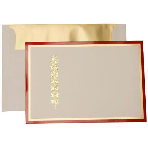 Foil Holiday Cards & Envelopes