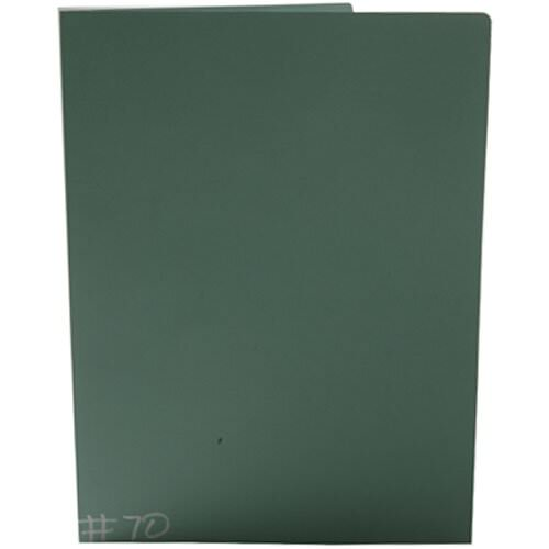 Green Closeout Two Pocket Folders