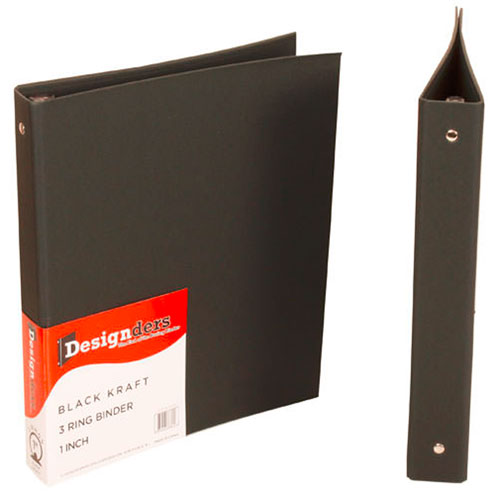 Recycled Kraft 1 Inch Binders - Natural & Black