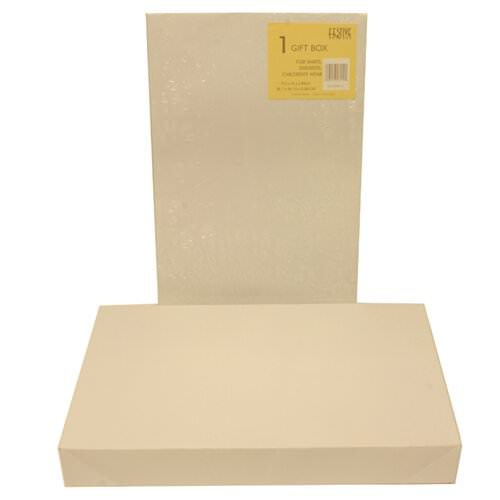 9 1/2 x 15 x 2 White Full Lid Gift Box