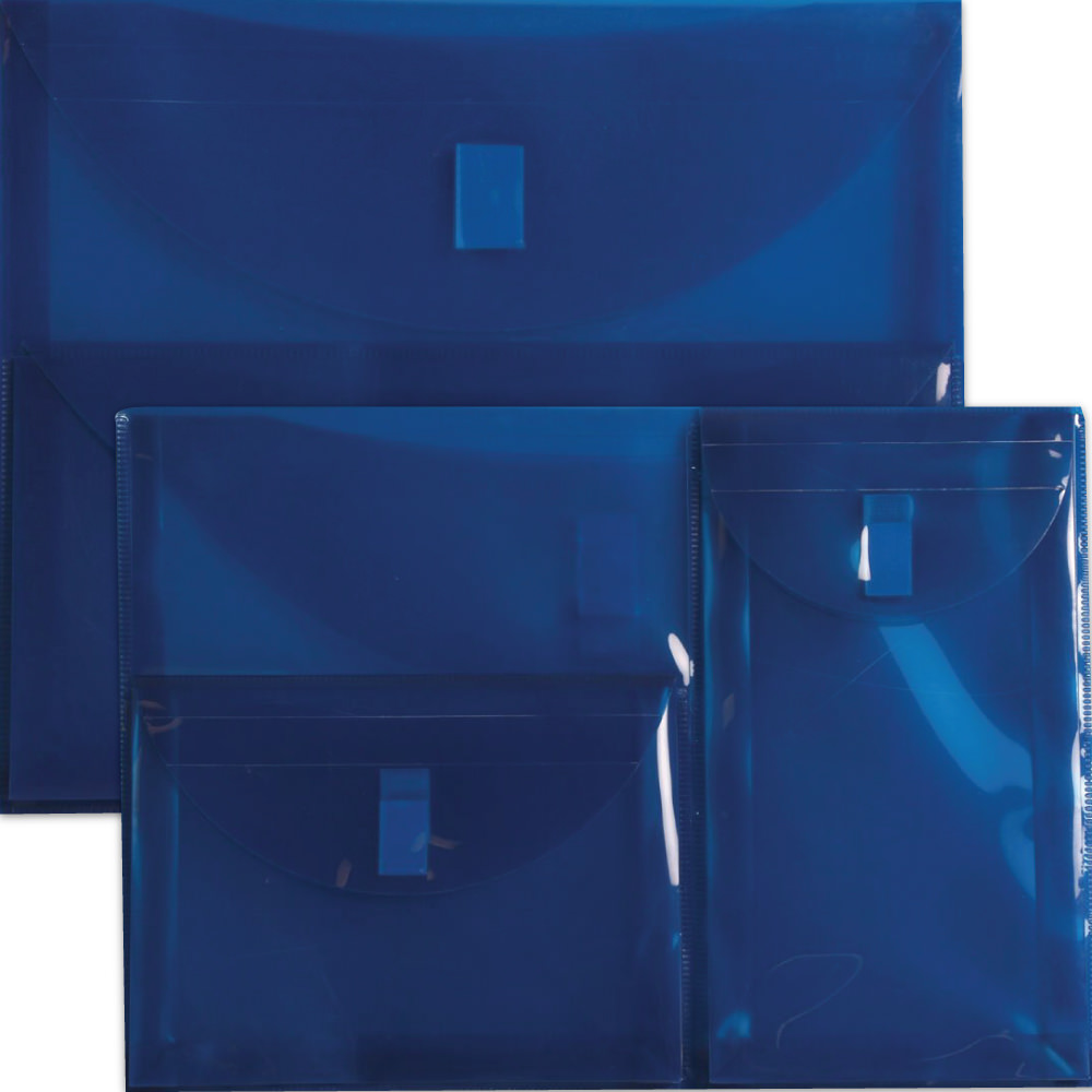 Blue Multi Pocket Envelopes- VELCRO® BrandClosure