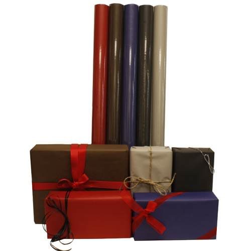 Solid Matte Color Wrapping Paper Rolls