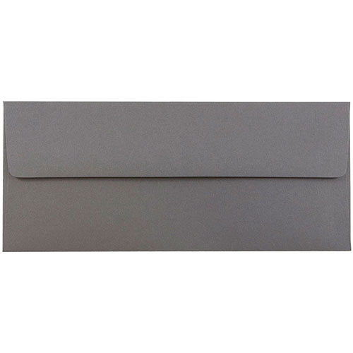 Silver & Grey #10 Envelopes - 4 1/8 x 9 1/2
