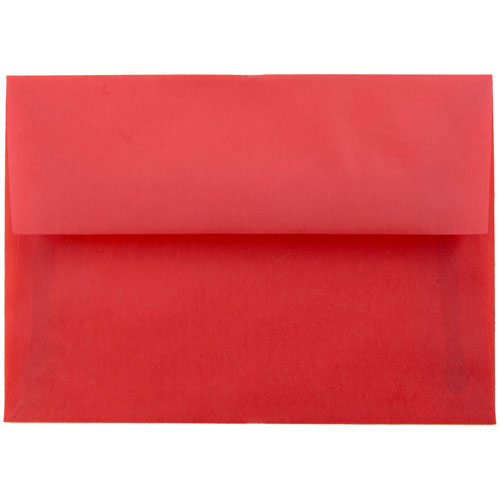 Red 4bar A1 Envelopes - 3 5/8 x 5 1/8