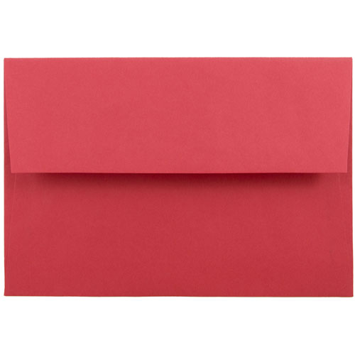 Red A8 Envelopes - 5 1/2 x 8 1/8