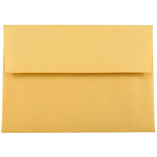 Gold A2 Envelopes - 4 3/8 x 5 3/4