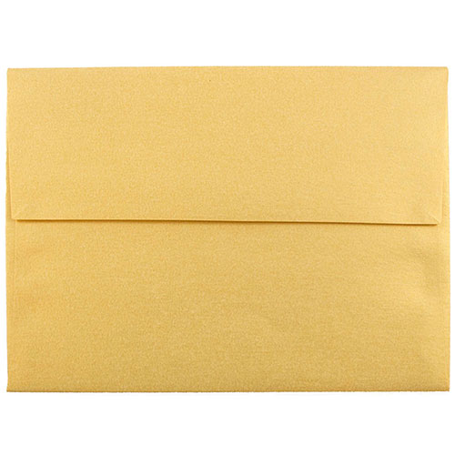 Gold A6 Envelopes - 4 3/4 x 6 1/2