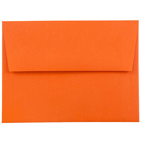Orange A2 Envelopes - 4 3/8 x 5 3/4