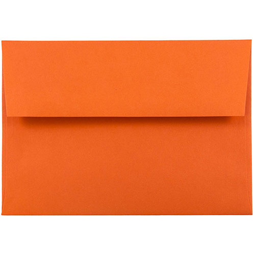 Orange A6 Envelopes - 4 3/4 x 6 1/2