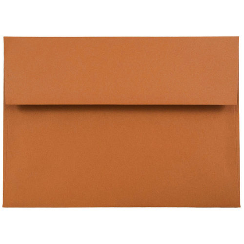 orange a7 envelopes 5 25 x 7 25 jam paper