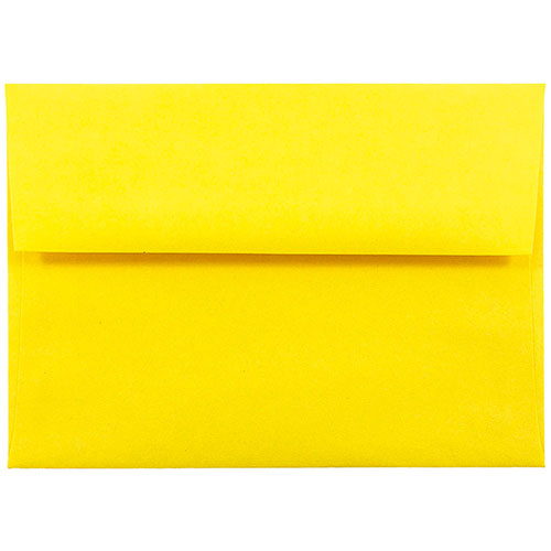 Yellow A6 Envelopes - 4 3/4 x 6 1/2