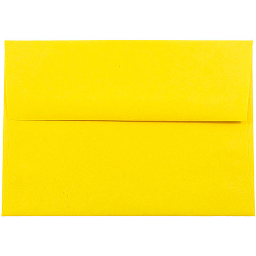 yellow a7 envelopes 5 25 x 7 25 jam paper