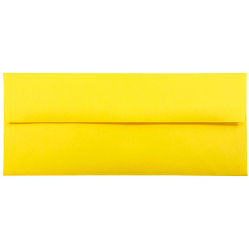 Yellow #10 Envelopes - 4 1/8 x 9 1/2