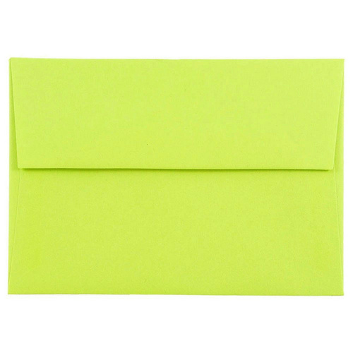 Green 4bar A1 Envelopes - 3 5/8 x 5 1/8