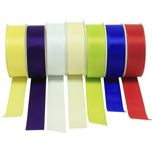 1 Inch Woven Edged Ribbon - 12 ft