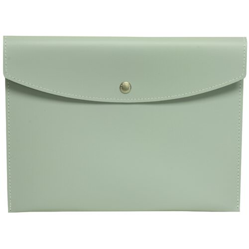 Blue Leather Snap Closure Envelope Portfolios