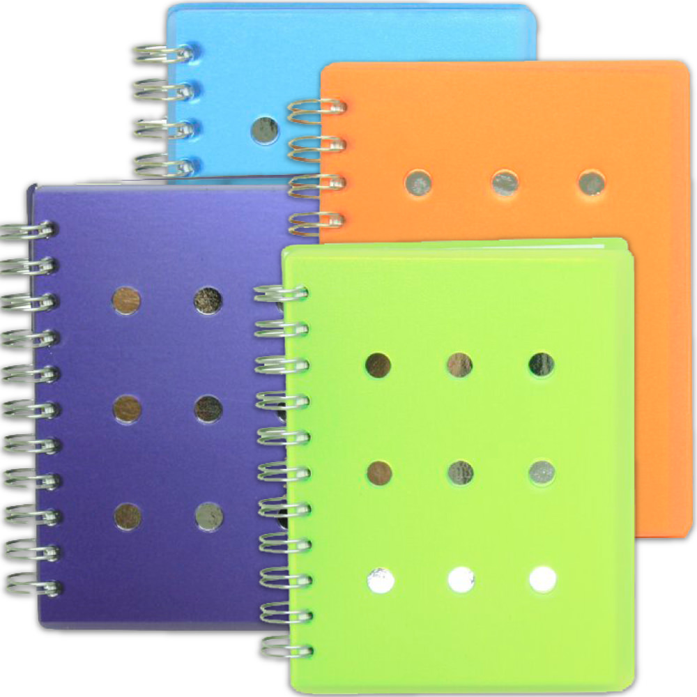 Mirror Spiral Bound Journals with 75 Blank Pages