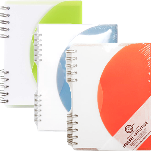 Plastic Notebooks with Tuck Flap Closure