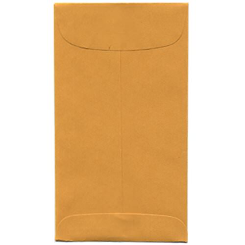 Brown #6 Coin Envelopes - 3 3/8 x 6
