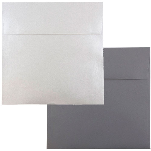 Silver & Grey 8 1/2 x 8 1/2 Square Envelopes
