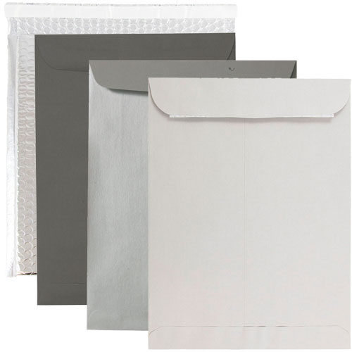 Silver & Grey 10 x 13 Envelopes