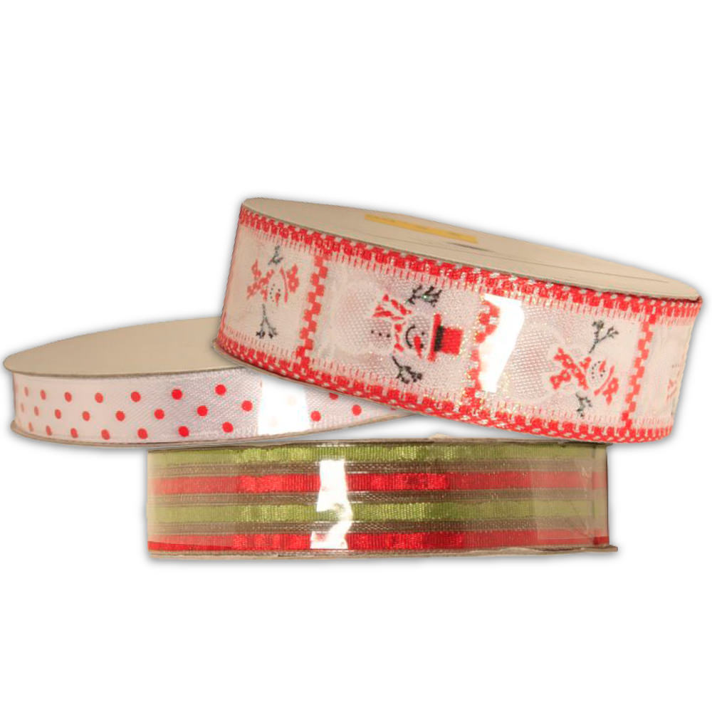 Holiday Themed Ribbon - small rolls