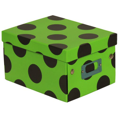 6 3/4x 8 5/8x 5 1/8 Lime Green with Large Dot Box
