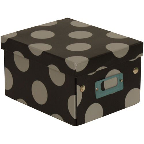 6 3/4 x 8 5/8 x 5 1/8 Black with Large Dot Box