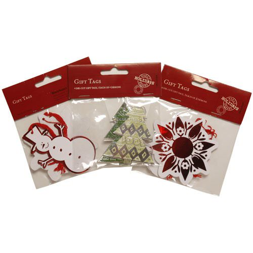 Holiday Die Cut Gift Tags