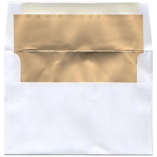 Gold 5 3/8 x 7 3/4 Envelopes