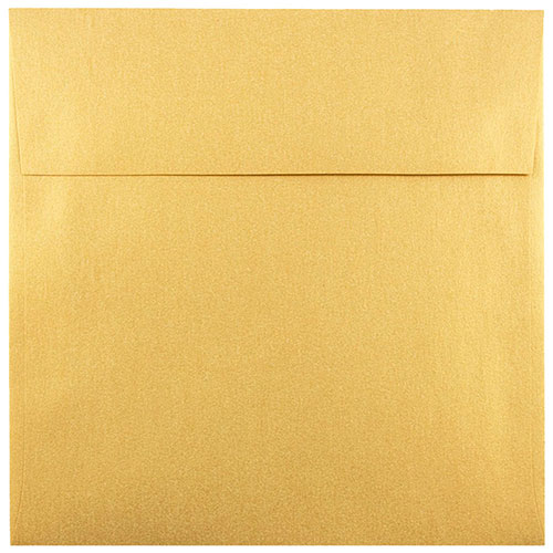 Gold 5 1/2 x 5 1/2 Square Envelopes