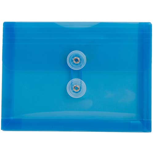 Blue Index Plastic Envelopes - 5 1/2 x 7 1/2