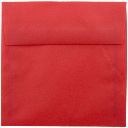 Red 5 1/2 x 5 1/2 Square Envelopes