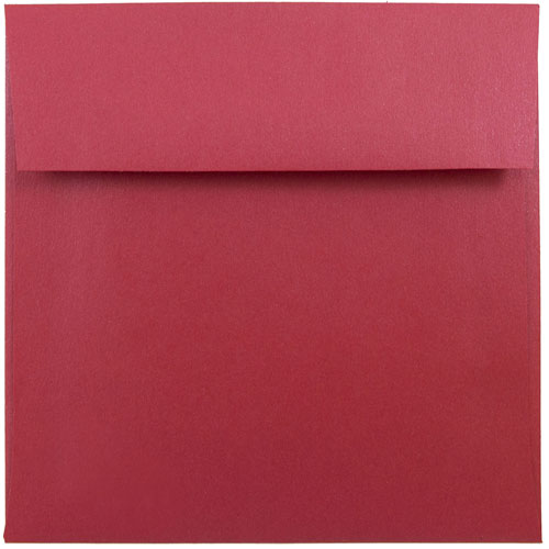 Red 6 x 6 Square Envelopes