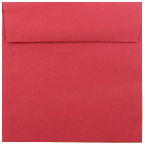 Red 6 1/2 x 6 1/2 Square Envelopes
