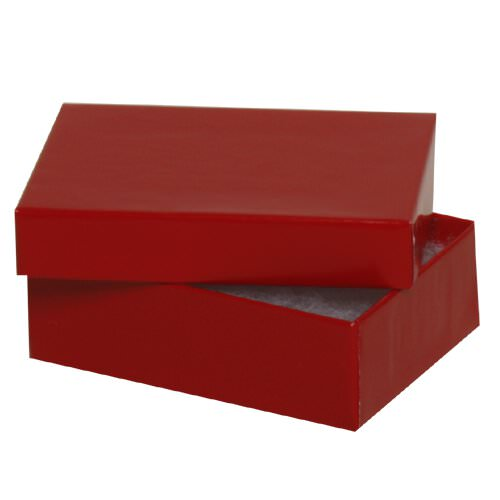 3 1/8 x 2 1/8 x 1 Red Two Piece Box