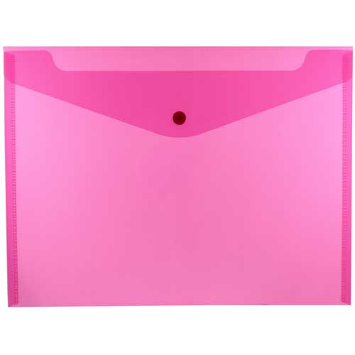 Pink Letter Booklet Plastic Envelopes - 9.75 x 13