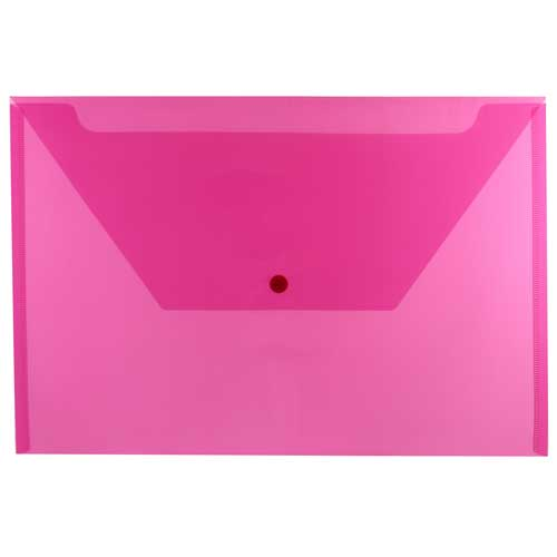 Pink Legal Plastic Envelopes - 9.75x14.5