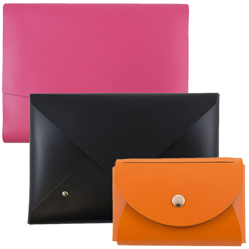 Italian Leather Portfolios with Snap Closure